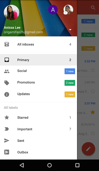 Gmail for Android gets a unified inbox view