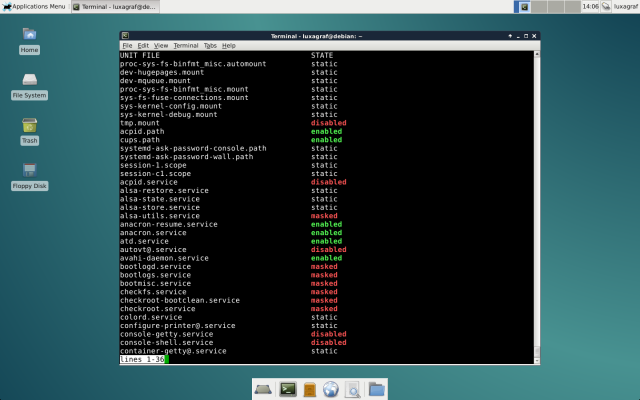 Behold, systemd.
