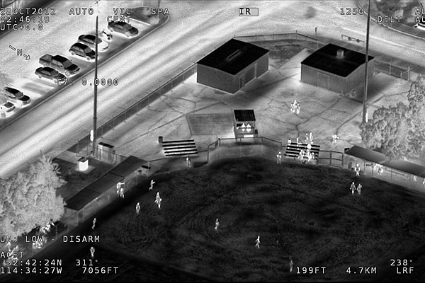 An example of high definition infrared video captured by the Wescam MX-20 HD.