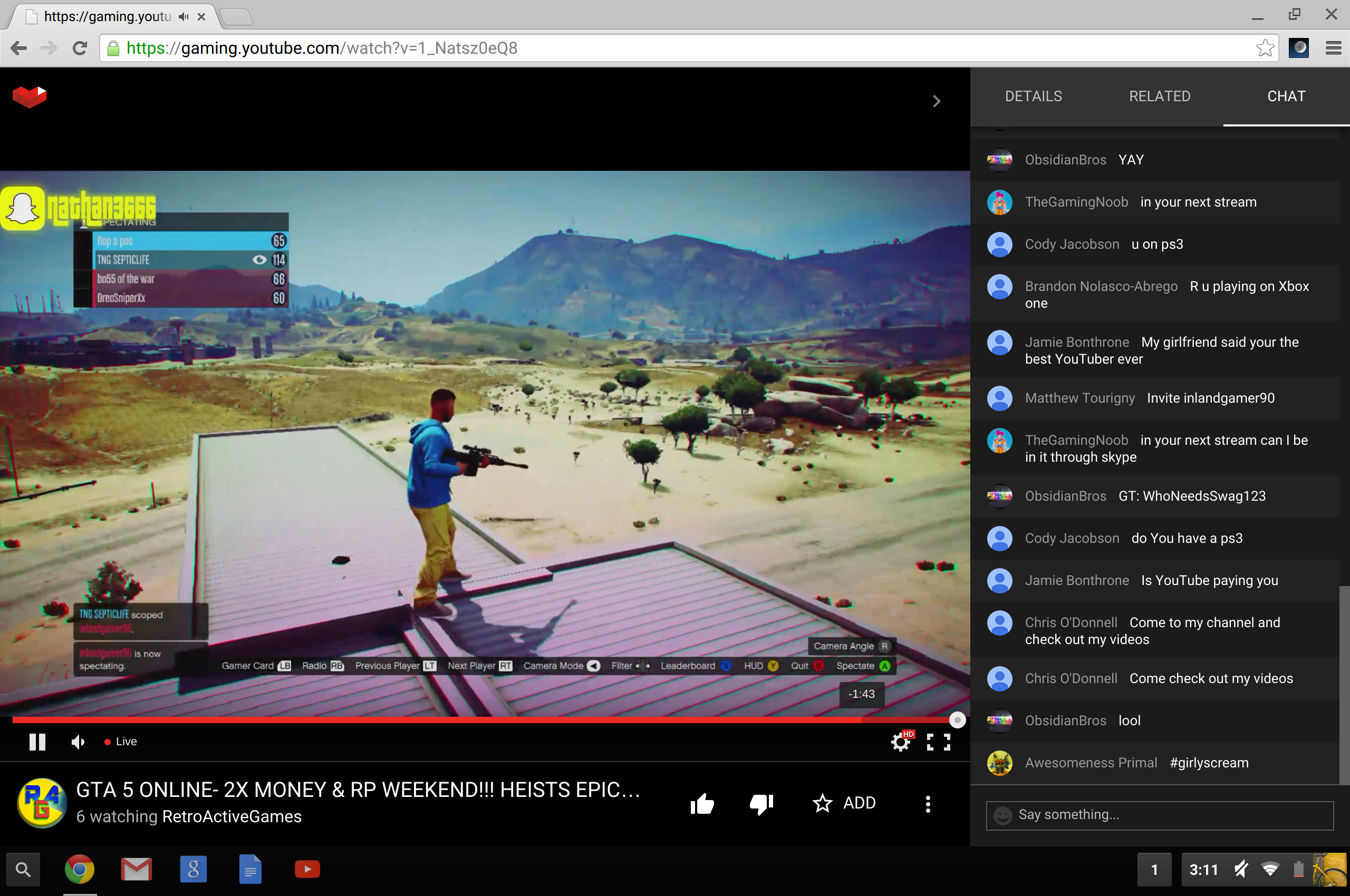 how to rewind a live stream on youtube