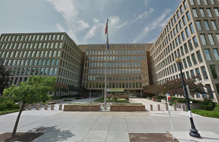 The Office of Personnel Management's headquarters, the Theodore Roosevelt building in Washington, DC.