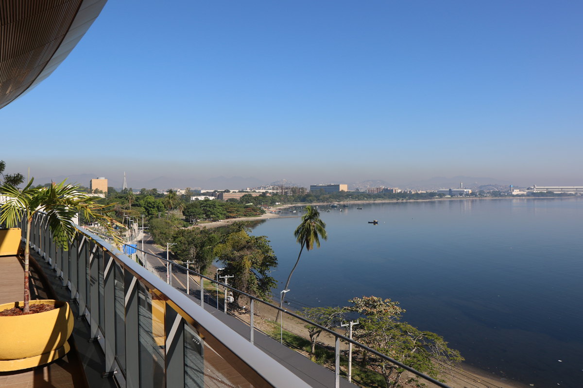 The view from GE's new research building in Brazil.