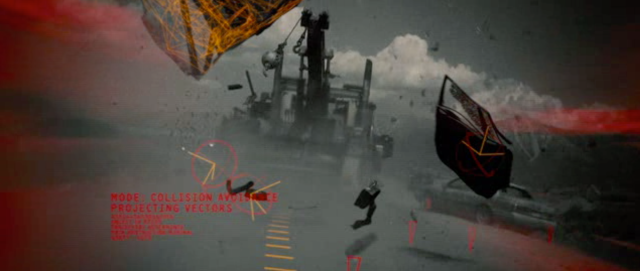 A driving HUD with a projected path and lots of words is great if you're a robot motorcycle (like this still from <em>Terminator: Salvation</em>), but it turns out that humans need to spend extra time reading the words and <em>thinking</em> about info-dense displays, and this hinders fast decision-making.