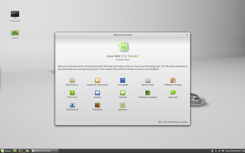 Cinnamon 2.6 in Linux Mint 17.2.