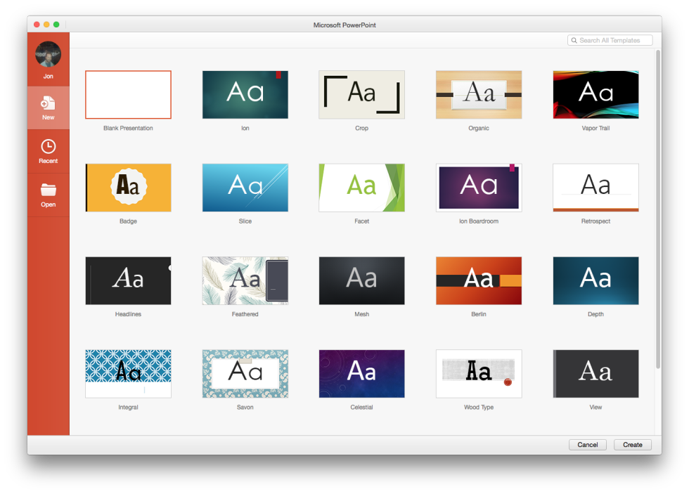 Microsoft powerpoint templates for mac enolsoft releases powerpoint a quick hands on with office 2016 for mac ars technica uk microsoft powerpoint templates for toneelgroepblik Images
