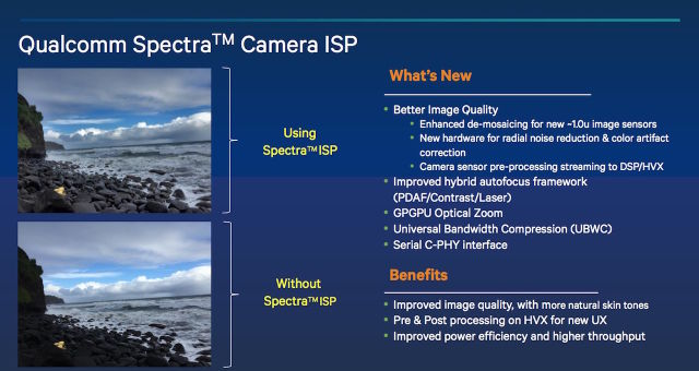 The Spectra ISP has a lot of benefits, especially if your OEM chooses to implement a dual rear-camera setup.