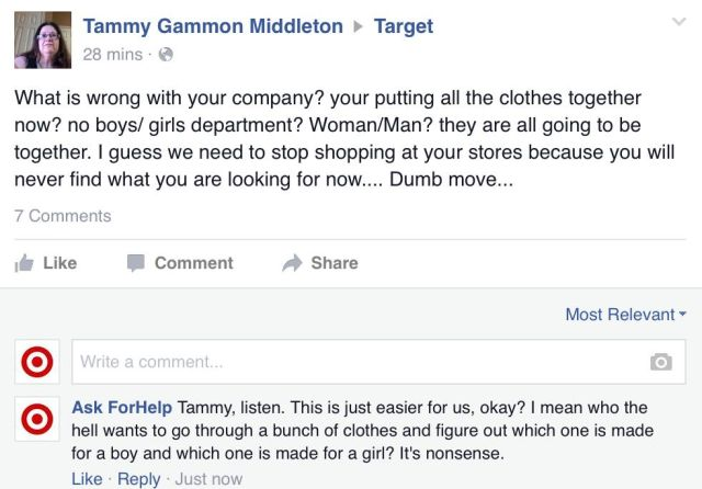 Facebook user gets away with nearly a full day of trolling Target commenters