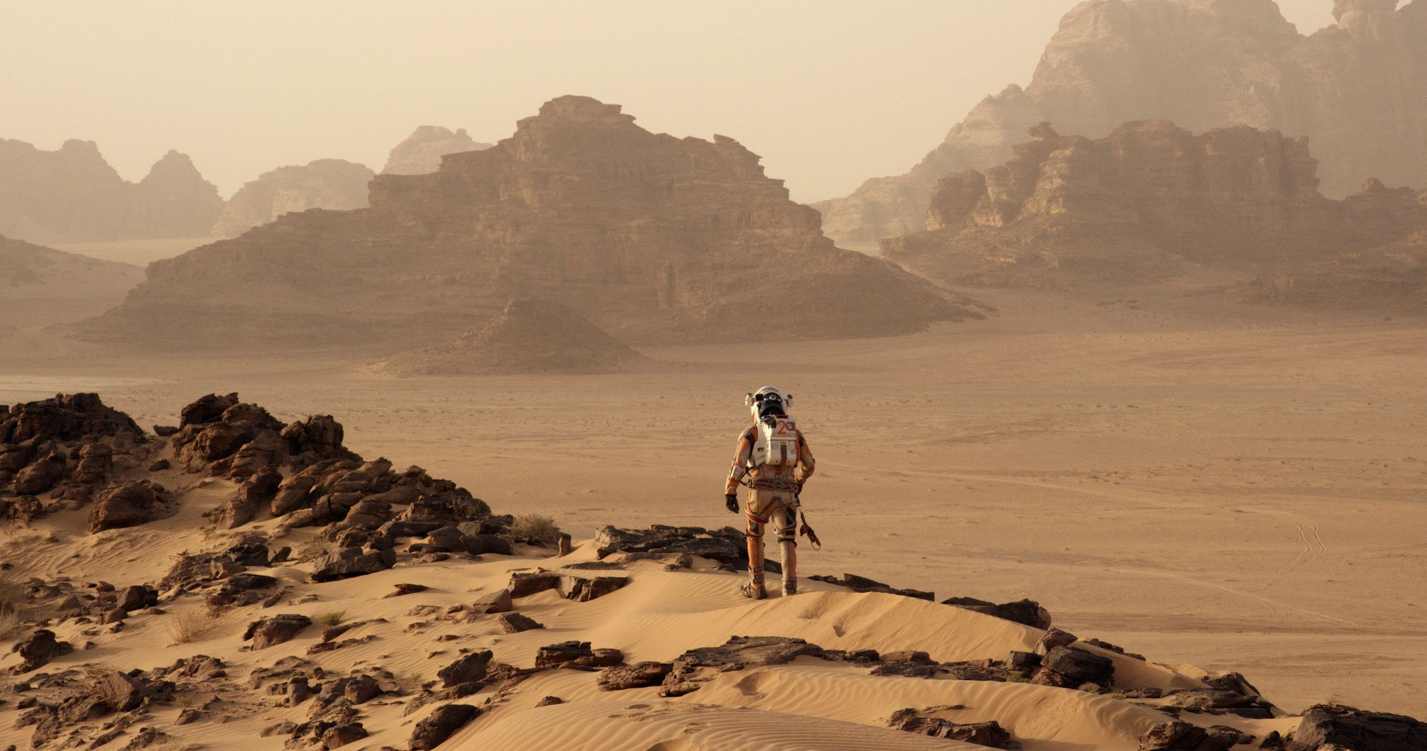 This isn't Edgar Rice Burroughs' Mars—no bazaars or Martian princesses. Just an empty, depthless waste of dirt and rock.