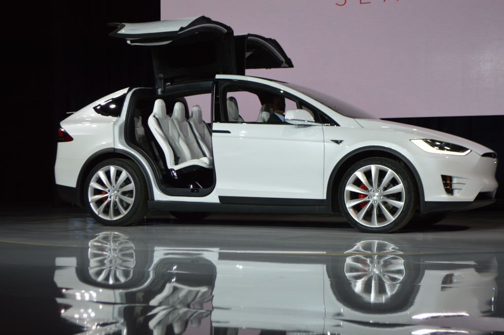 Tesla Car Falcon Wing Doors Drives Itself Price