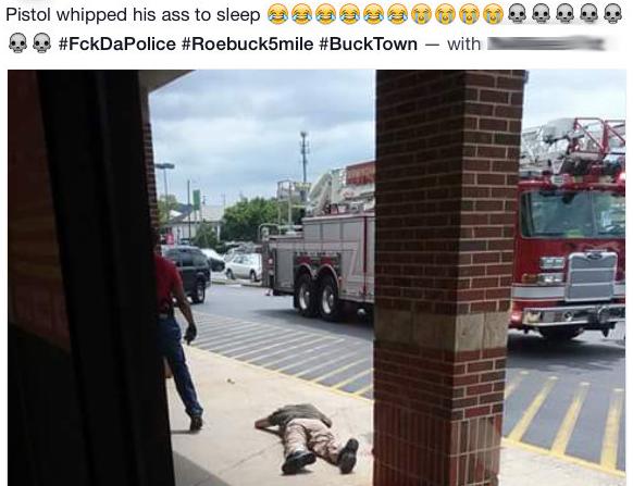 A Facebook posting following Birmingham officer's beating.