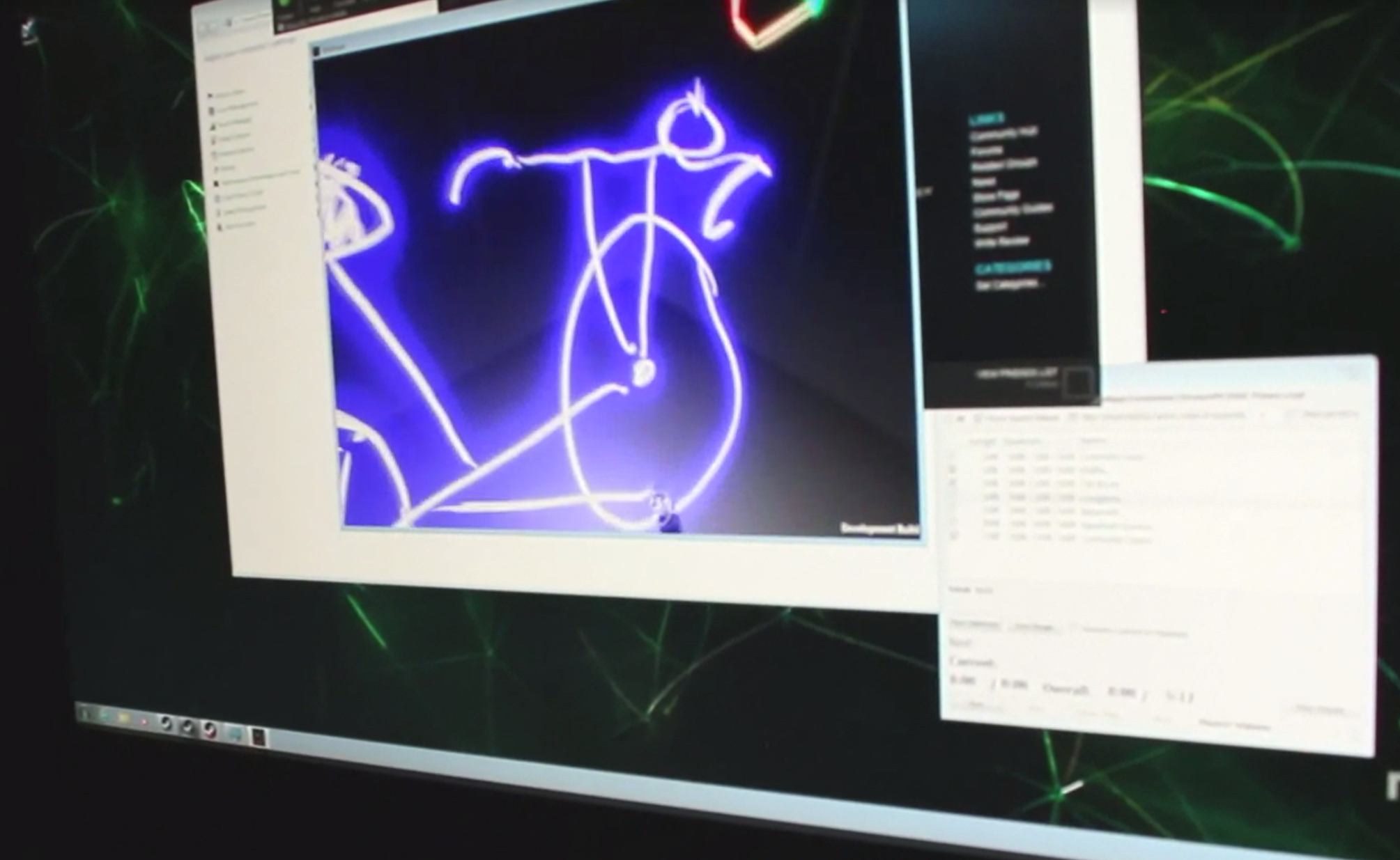 Sam Machkovech draws a bicycle in 3D using Tilt Brush.