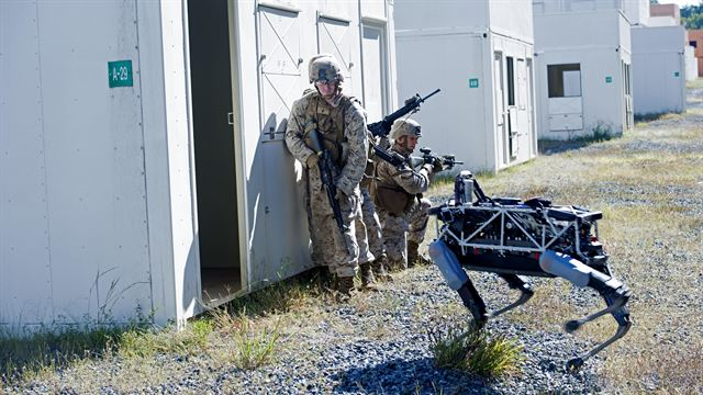 "Marines give Google's latest robot a tryout as ""working dog"""