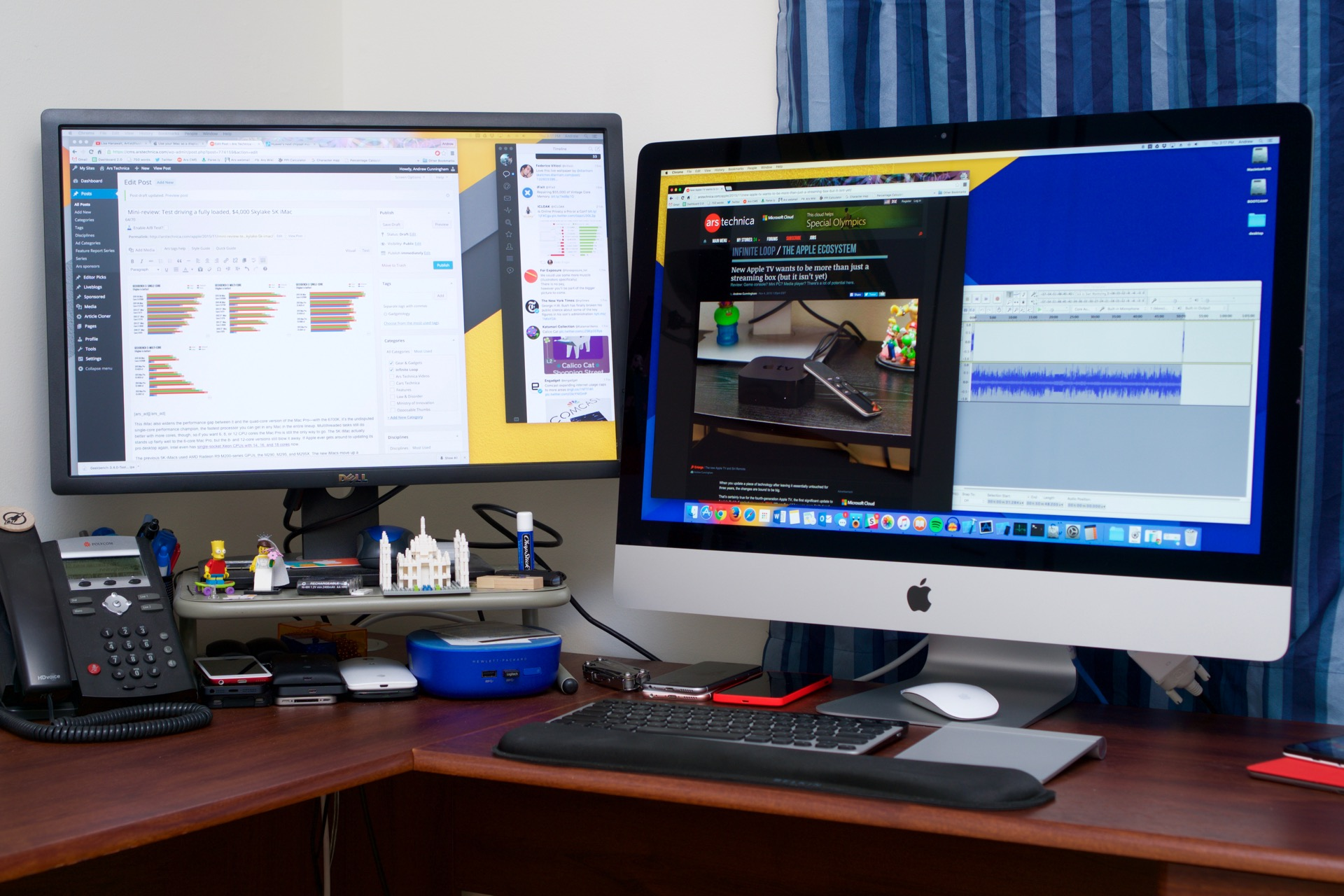 Mini review test driving a fully loaded 4 000 27 inch 5k imac ars technica - Computer desk for imac inch ...