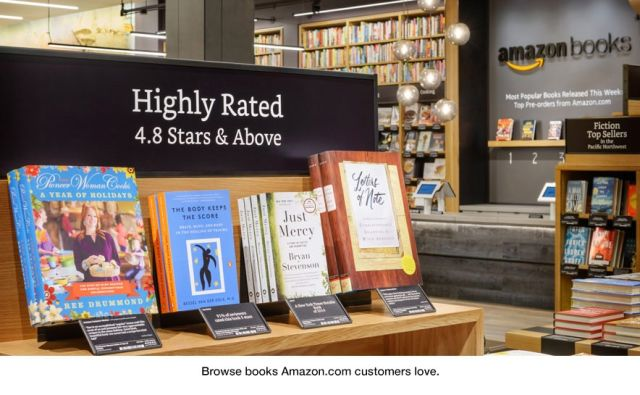 Amazon opens its first real-world bookshop in Seattle