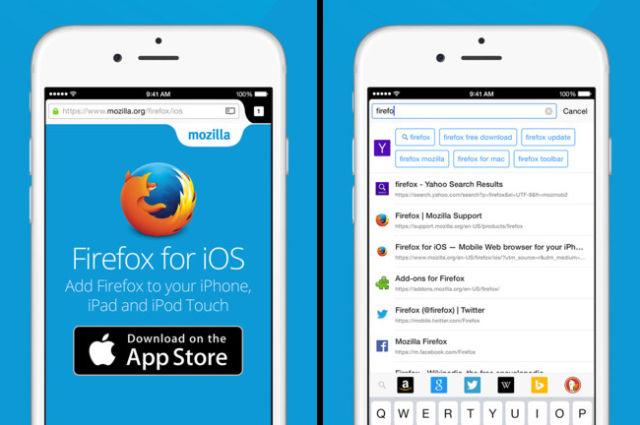 Link do Navegador Firefox para iOS