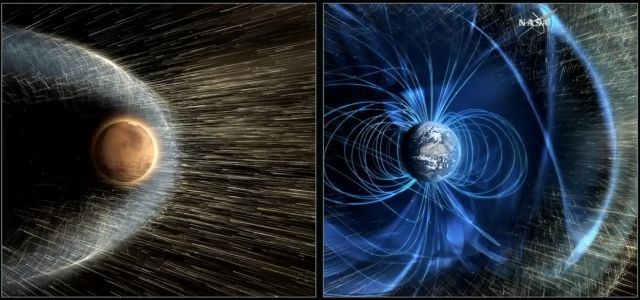 Without a strong magnetic field like Earth, Mars is laid bare to solar storms.