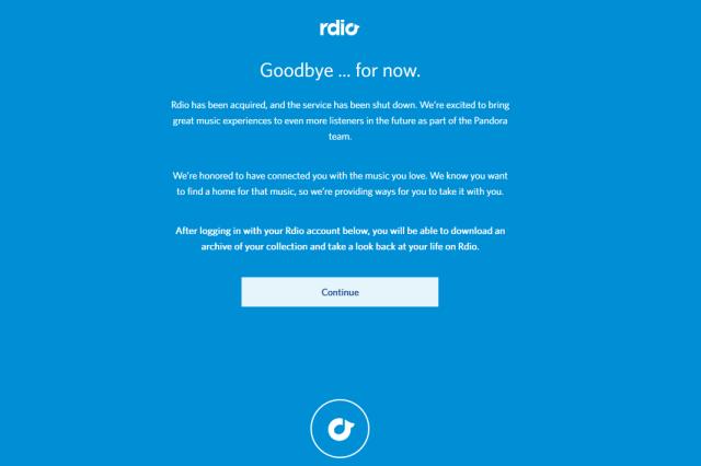 Rdio is Info-highway roadkill.