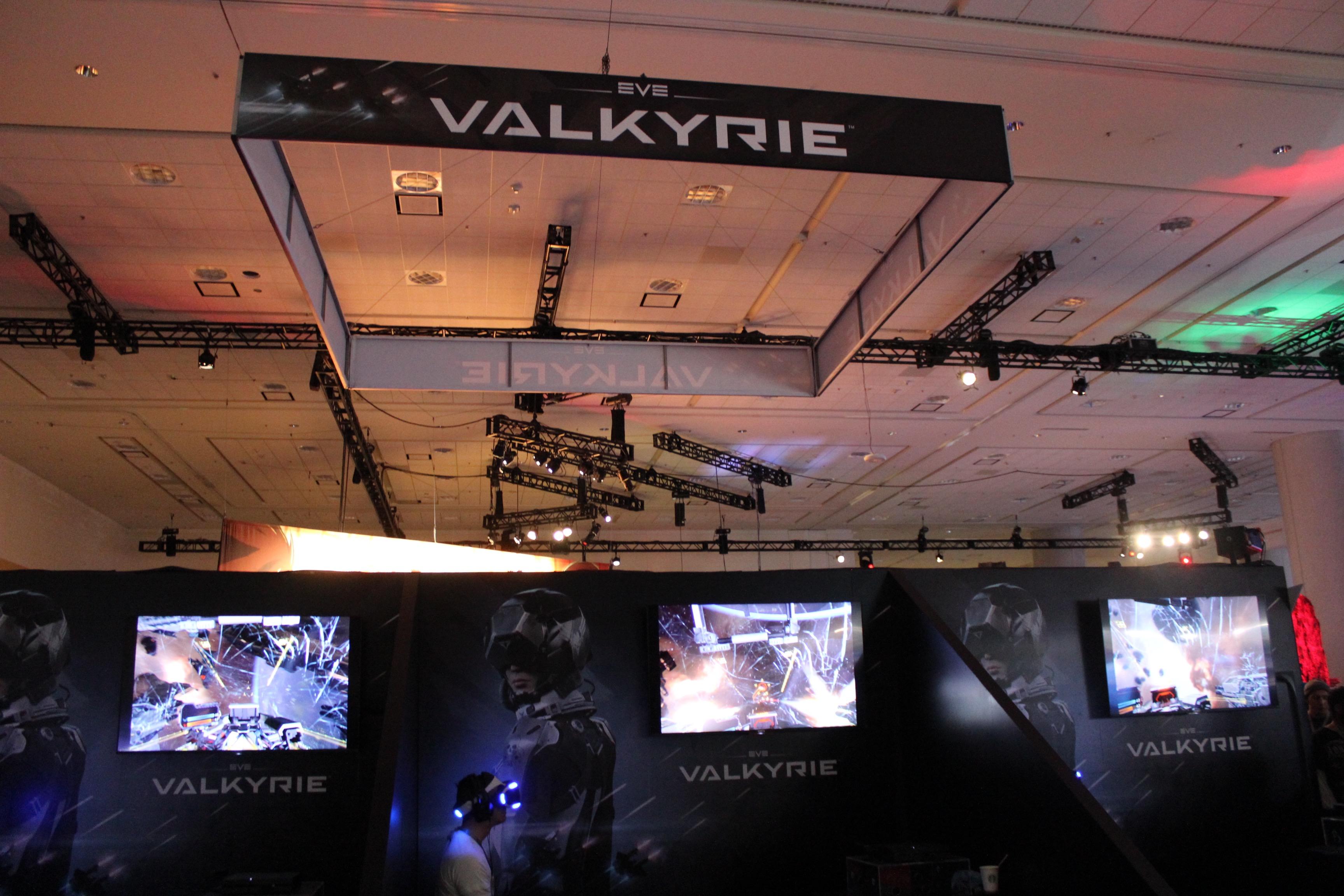 An <em>Eve: Valkyrie</em> demo kiosk.