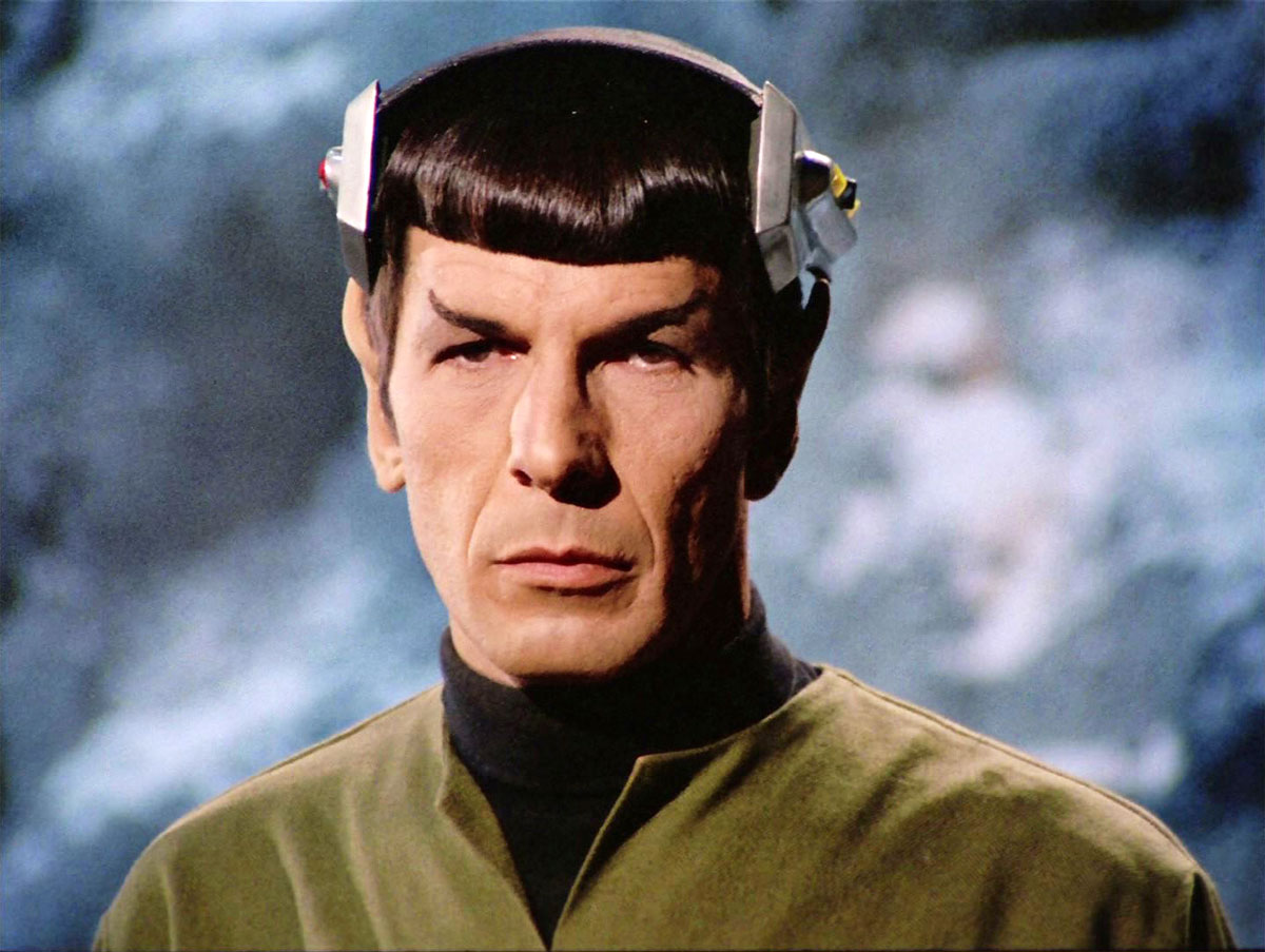 "This is a still from ""Spock's Brain,"" the third-season episode where aliens remove and Dr. McCoy replaces Spock's brain."