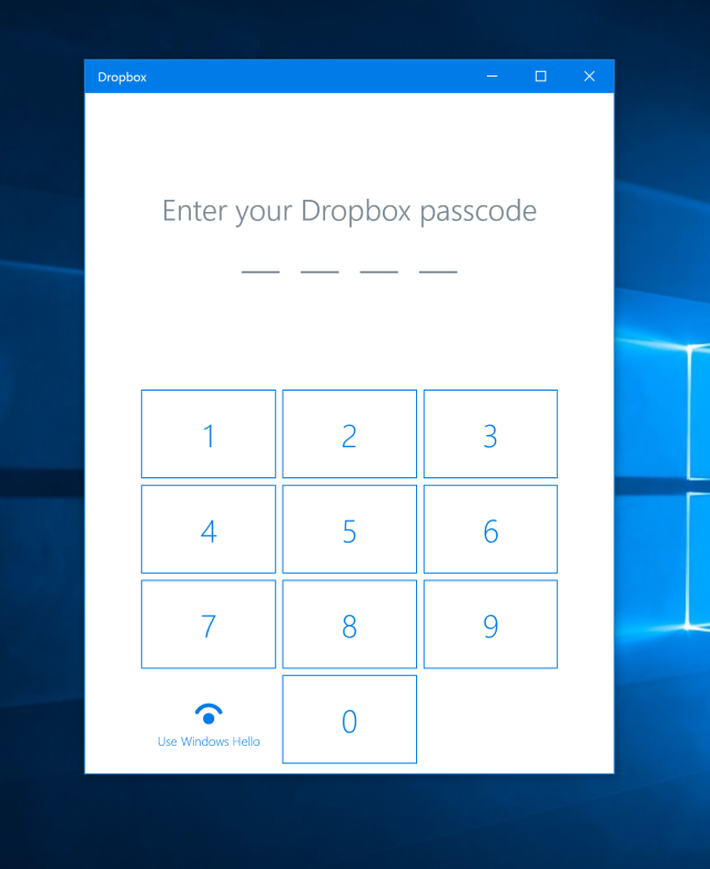 Passcodes with Hello support.