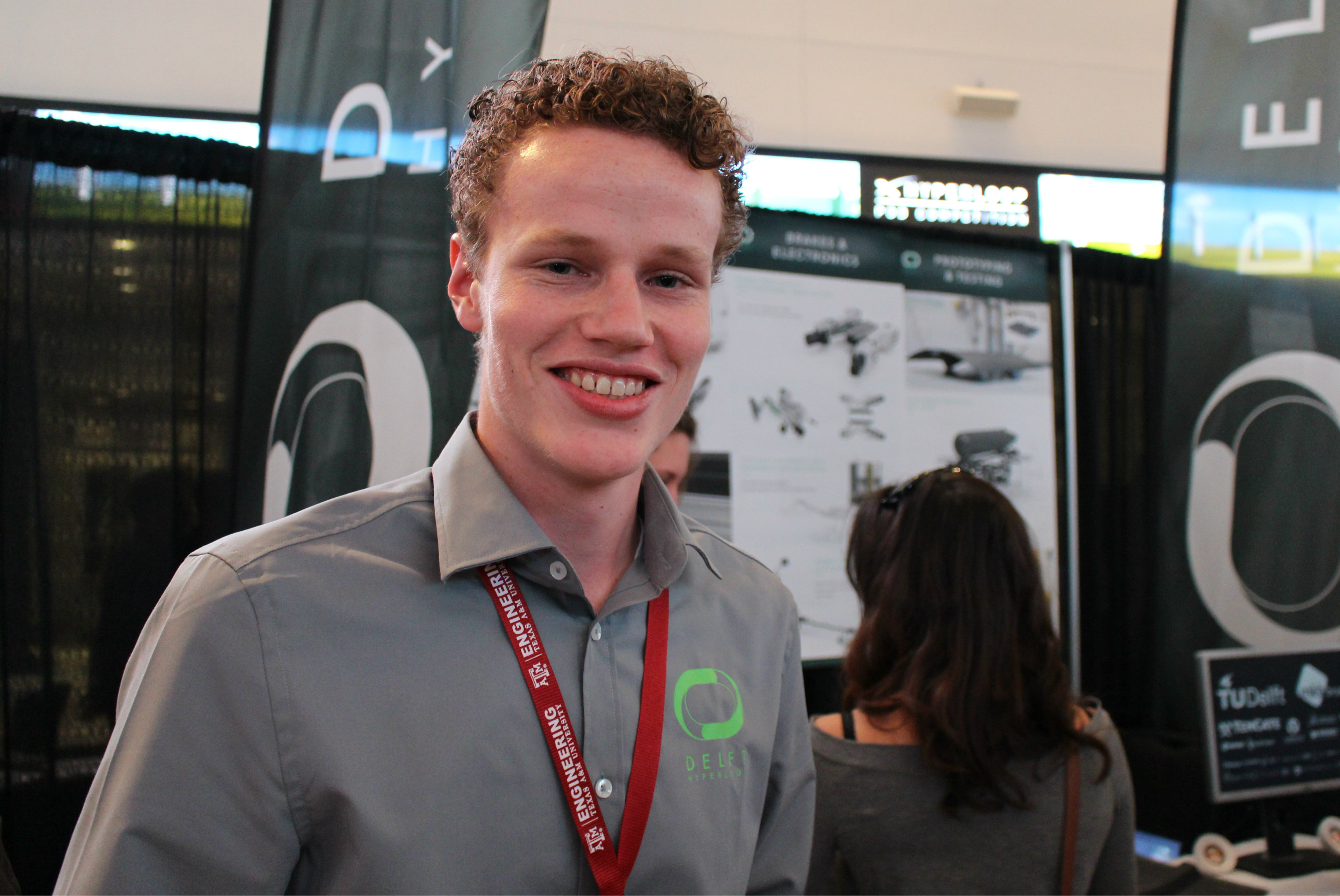 Quint Houwink, a 19-year-old from the Netherlands, was a member of the Delft University of Technology's successful Hyperloop team.