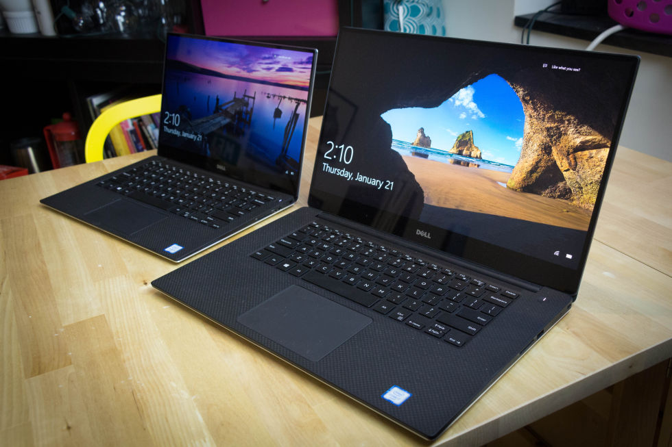 Separated at birth: XPS 13 on the left, XPS 15 on the right.