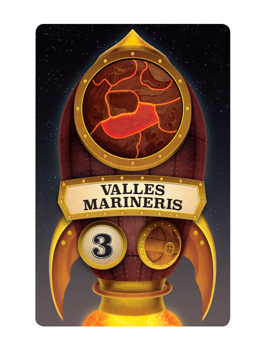 One of the rockets that will take astronauts to Mars; in this case, it will take 3 astronauts to Valles Marineris.