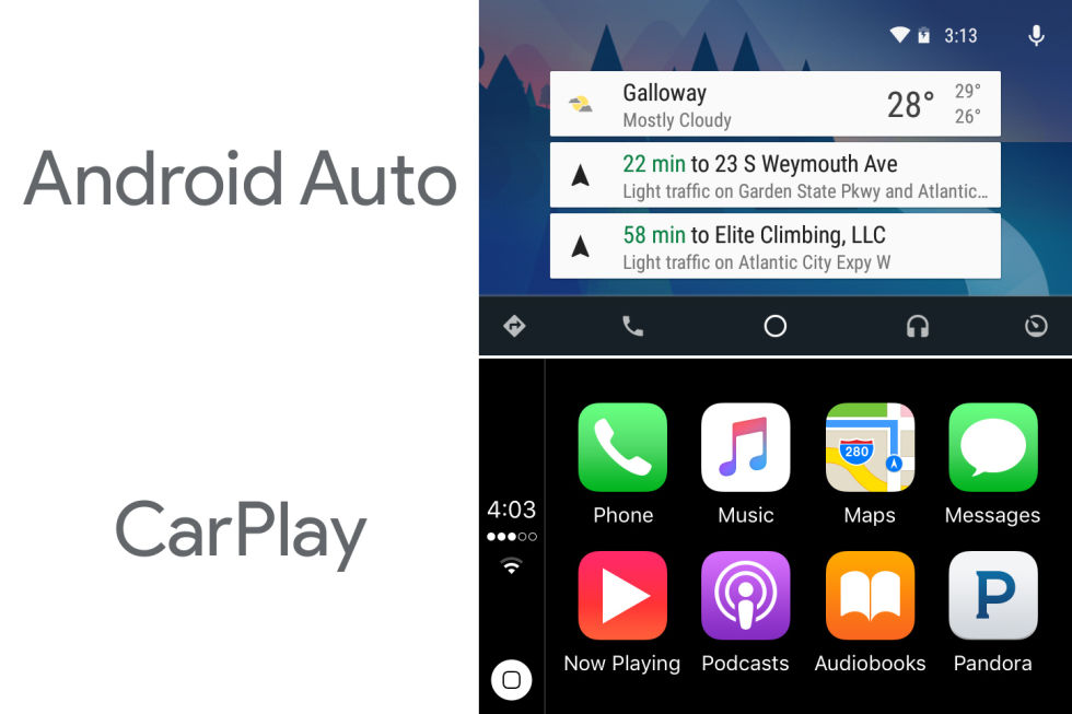 carplay vs android auto different approaches same goal. Black Bedroom Furniture Sets. Home Design Ideas