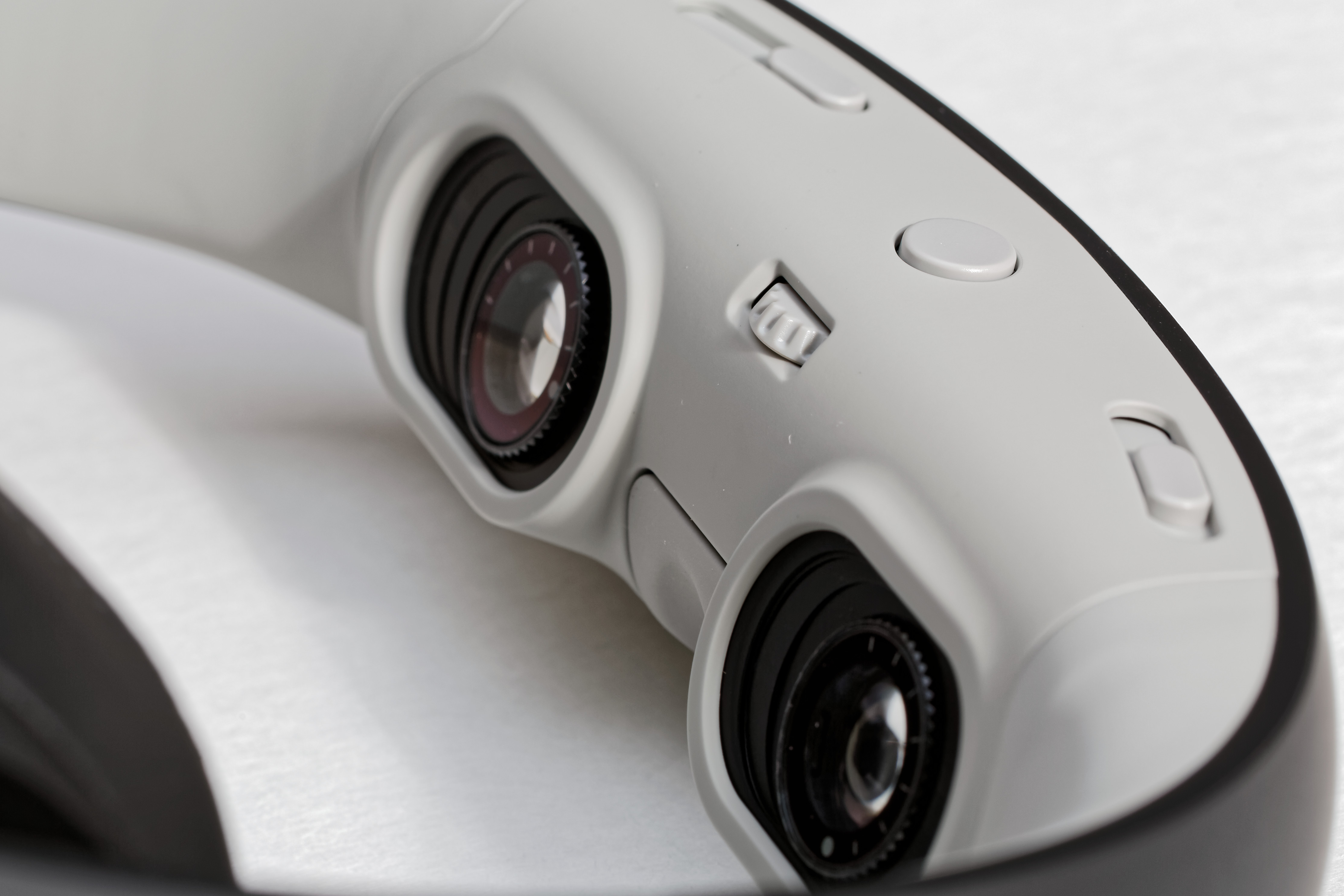 The Glyph's DLP view lenses are angled slightly up, meaning you need to push it a bit down your nose to get the best viewing position.