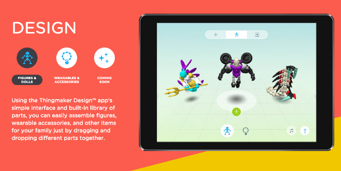 Mattel and Autodesk's ThingMaker Design app.