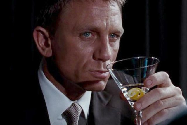 James Bond with his preferred drink.