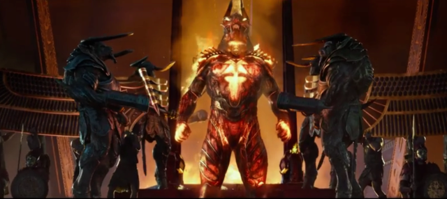 Egyptian gods are like half-melted robot toys designed by Rob Liefeld, right?