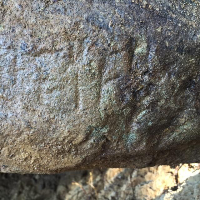 Etruscan writing found on the tablet