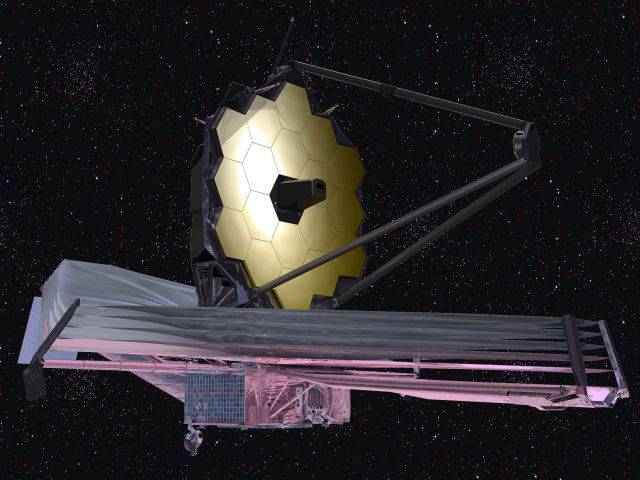 The James Webb Space Telescope as it will appear in orbit.