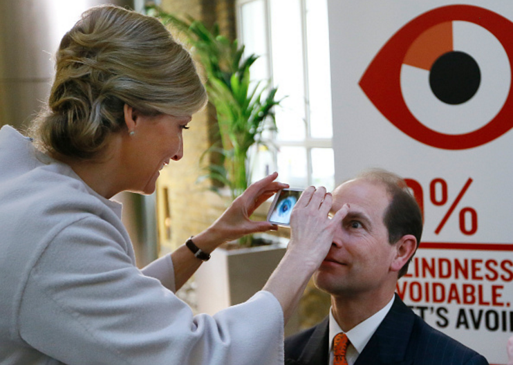 Even the Earl of Wessex is getting eye exams via smartphone thanks to PEEK.