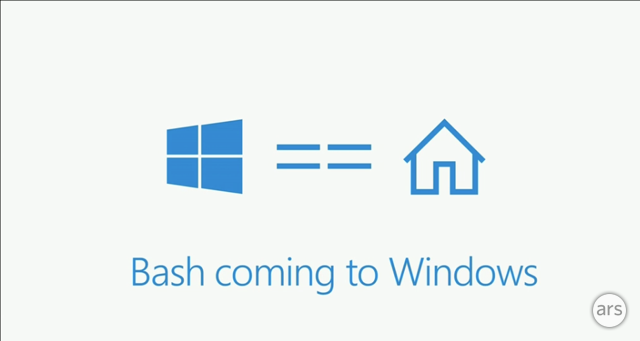 Ubuntu's bash and Linux command line coming to Windows 10