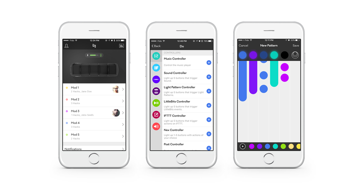 Assign hacks to each mod on the Nex Band and create custom light patterns for notifications.