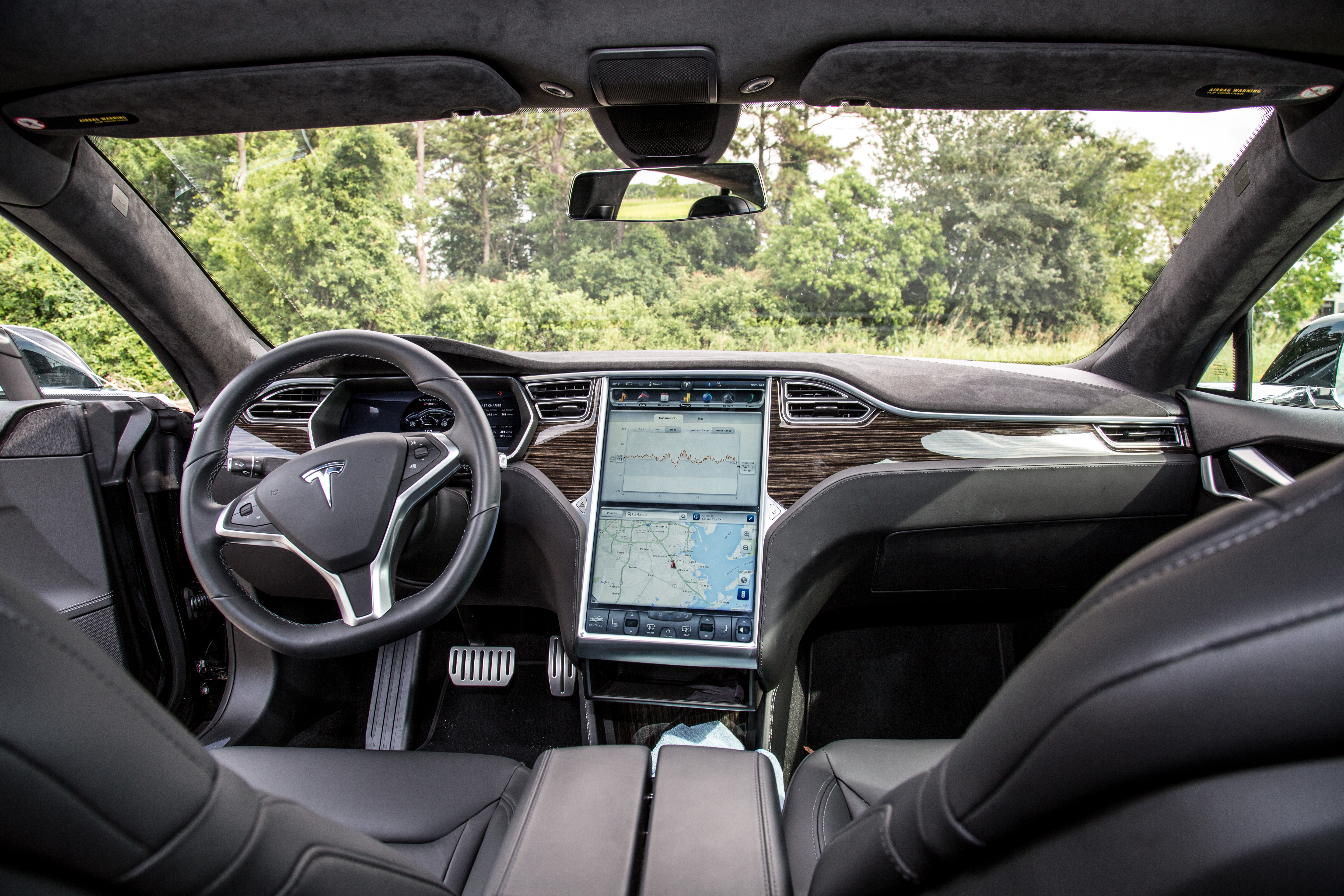The steering wheel you won't need to touch (except when the car tells you to touch the steering wheel to make sure you haven't died or something).