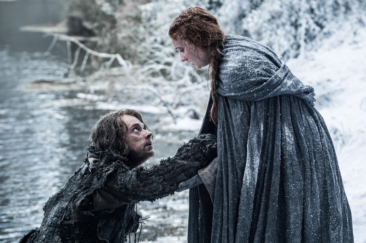 Theon and Sansa probably move forward the most in this week's premiere.