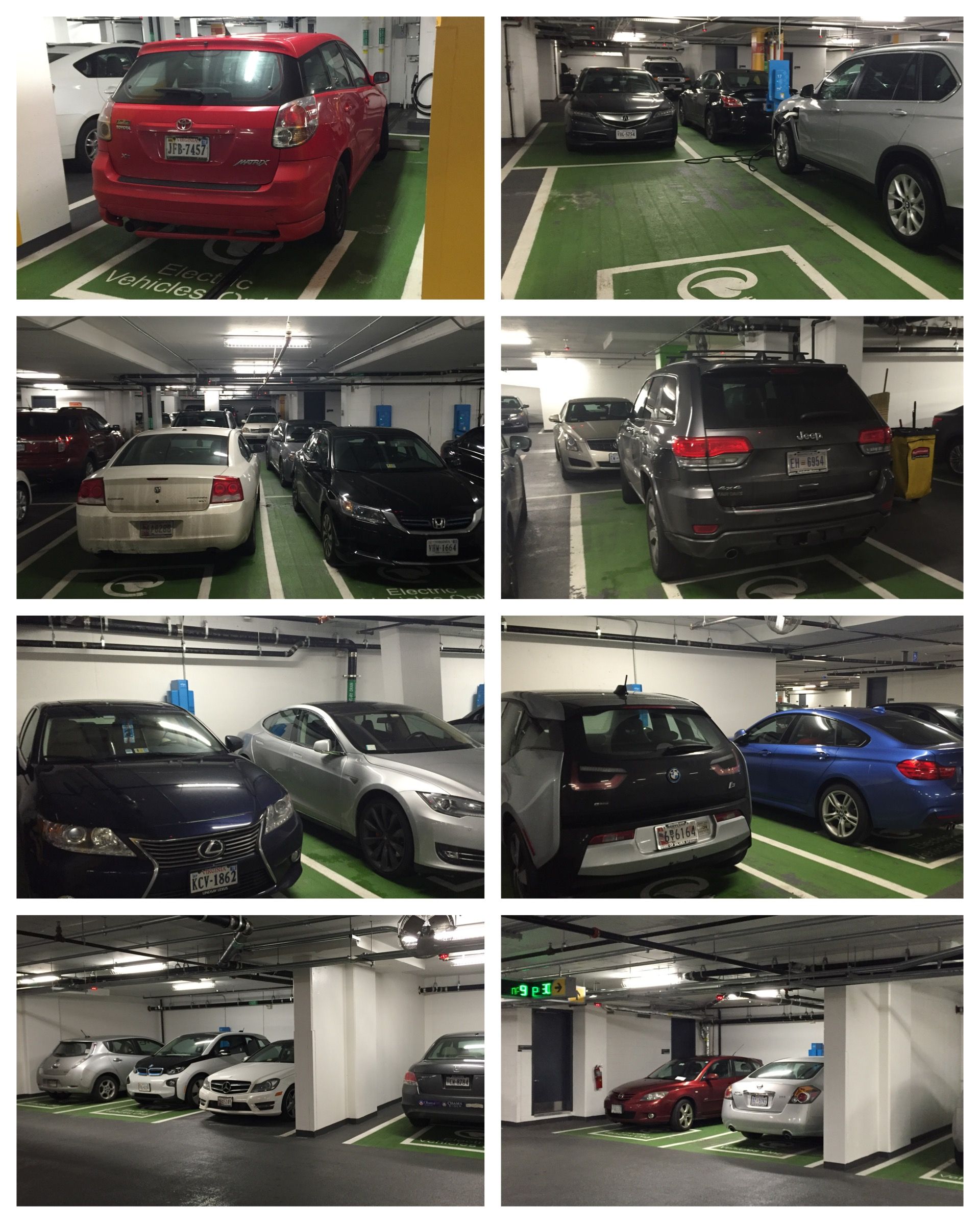Just a random Saturday in Washington, DC. Fourteen of the 18 public chargers at this garage were ICE'd out. Not cool.