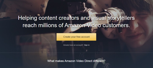 """amazon video direct"" takes aim at the professional side of youtube"