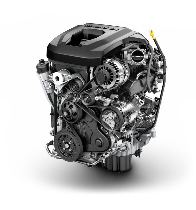 GMs Duramax 2.8L inline four diesel in the GMC Canyon uses extremely high fuel pressure, a healthy turbo and 16 valves atop the burly block to hit the road with a walloping 369 ft-lb of torque, enough to tow up to 7,700lbs. That's more than a few full-sized trucks.