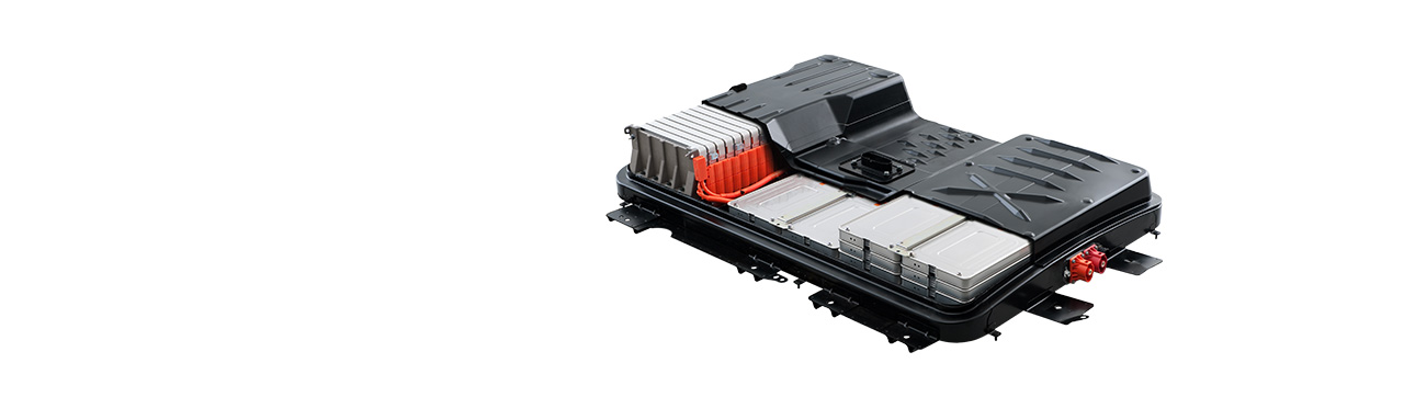 """A look at Nissan's Leaf battery. According to Nissan's site, """"The available 30kWh lithium-ion battery stores its energy to power the 80 kW AC motor in lithium-ion modules. Each module contains four lithium-ion battery cells and provides enough power to the motor to generate 187 lb-ft of torque off the line, and up to 107 horsepower."""""""