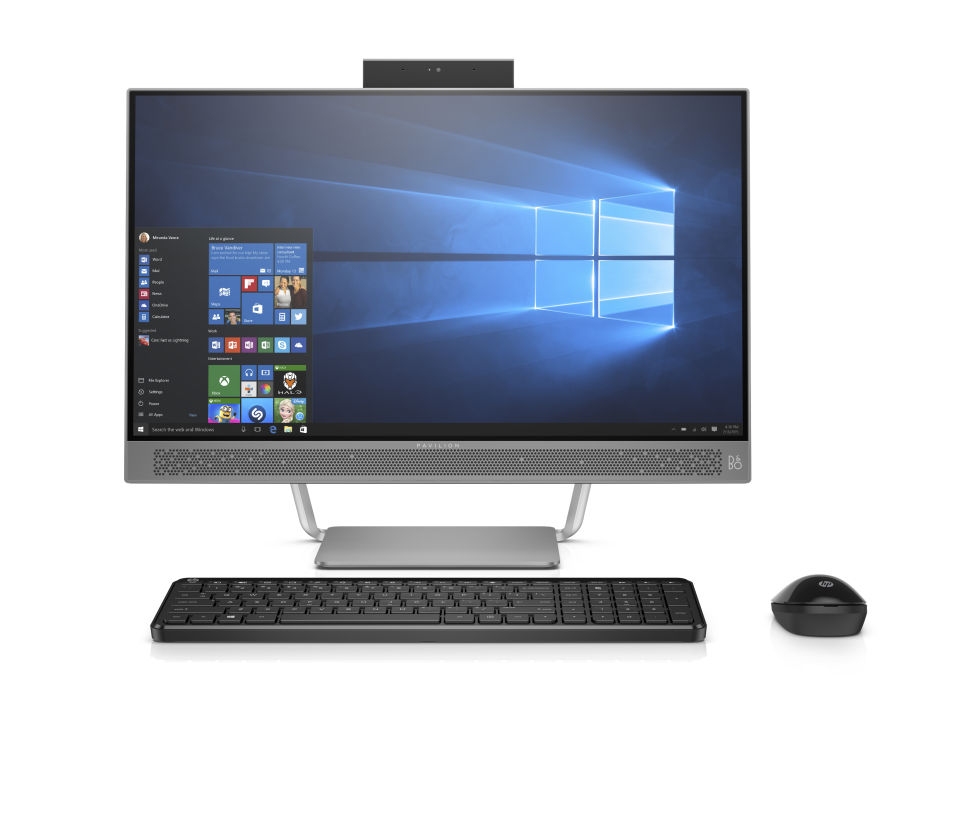 hp s new all in one is sleek borderless and has a really neat webcam kogonuso. Black Bedroom Furniture Sets. Home Design Ideas