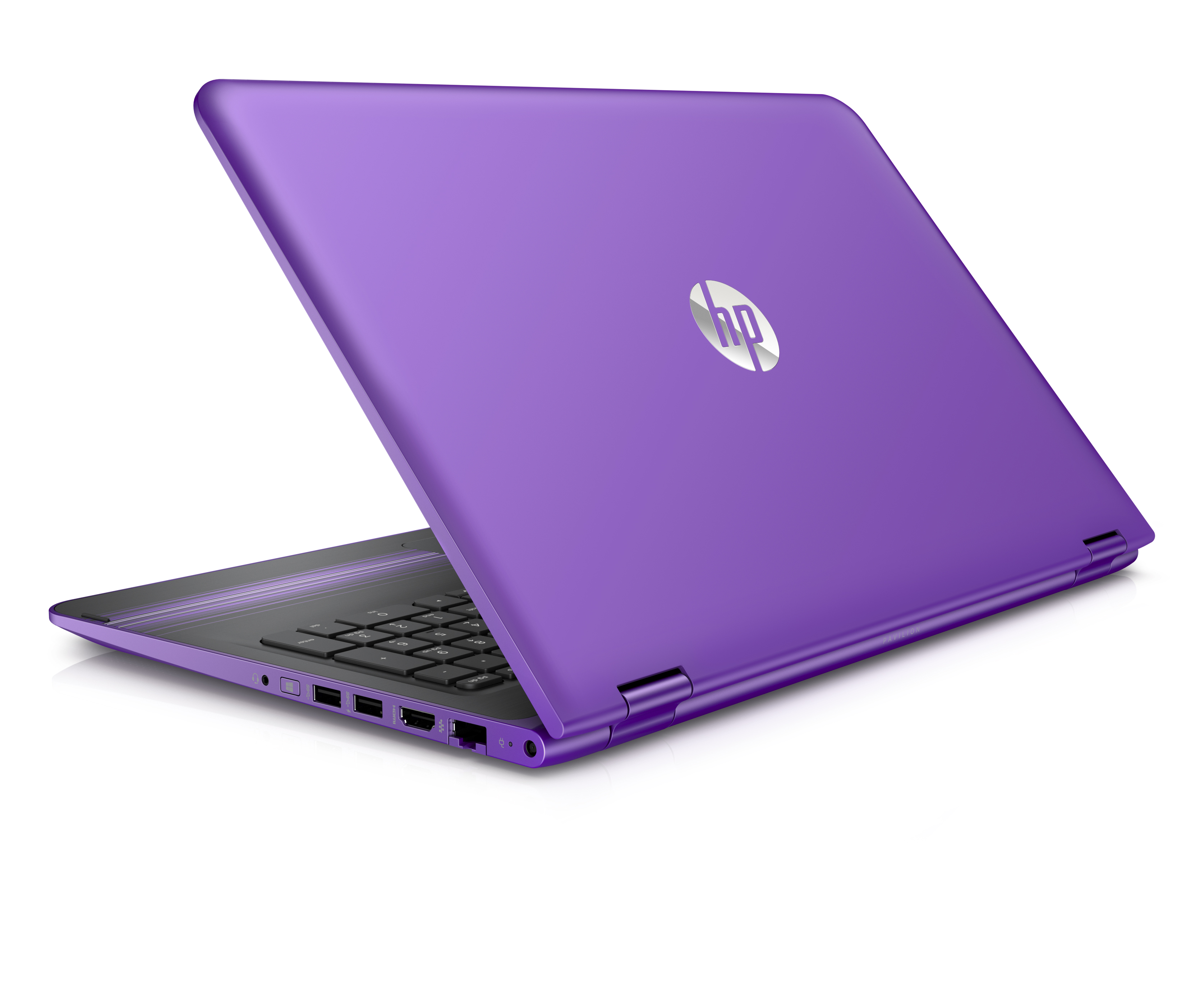 The 15.6 inch Pavilion x360 in Sport Purple is rather fetching.