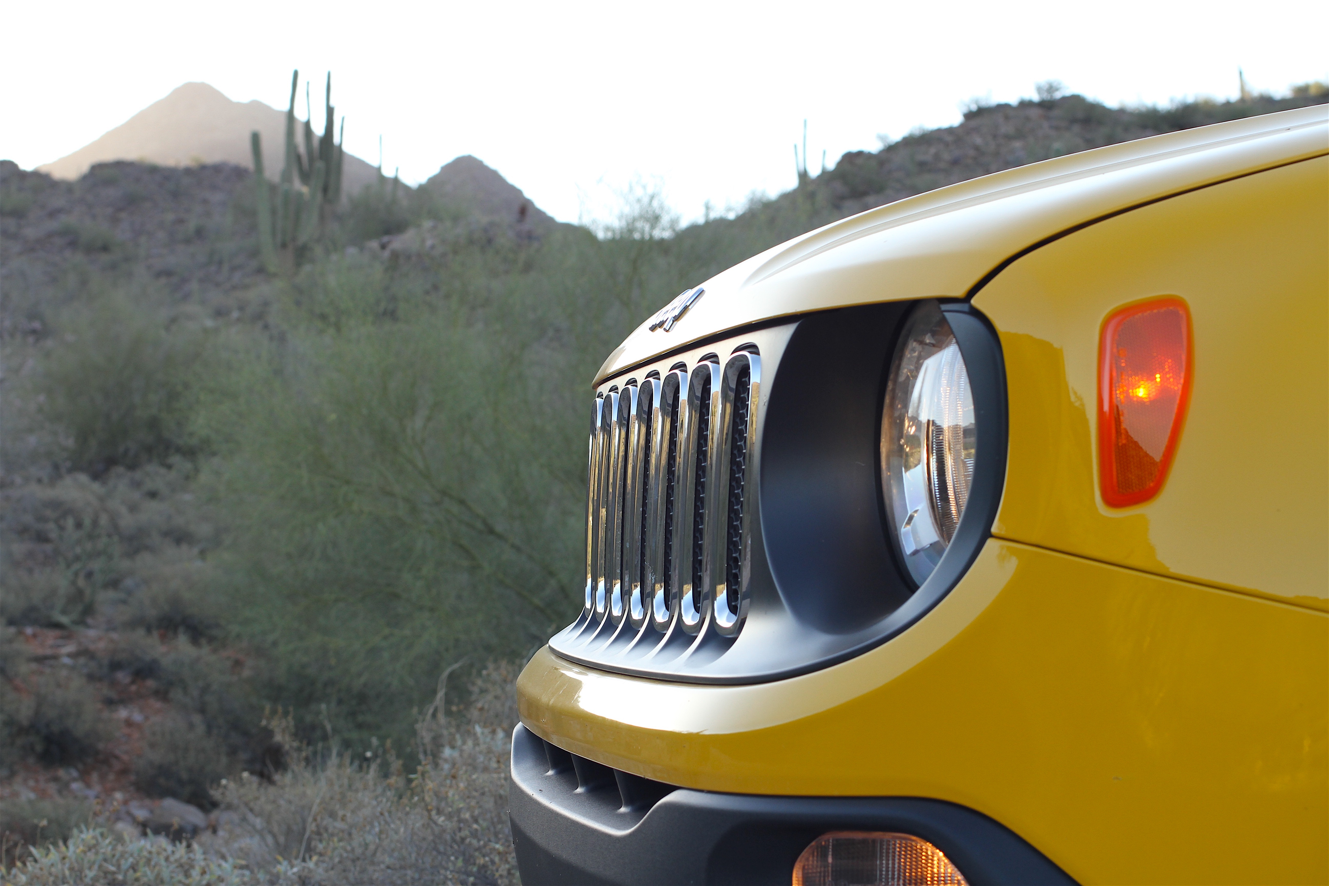 The Renegade Sport retains some traditional Jeep styling cues.
