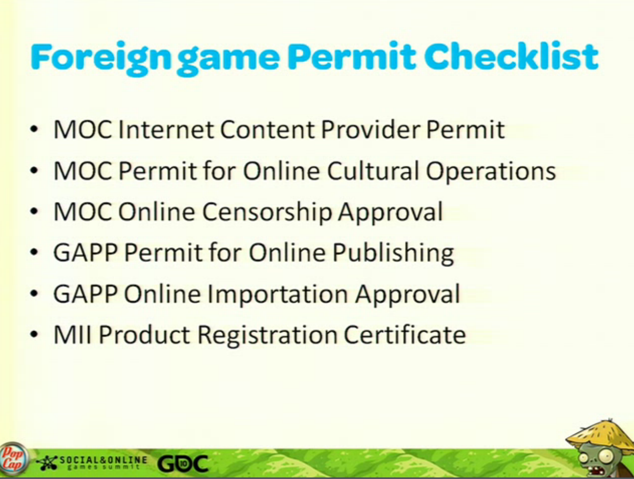 Want to release video games in China? Time to file paperwork for a whopping six permits.