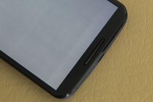 OLED burn-in on a Nexus 6 phone.
