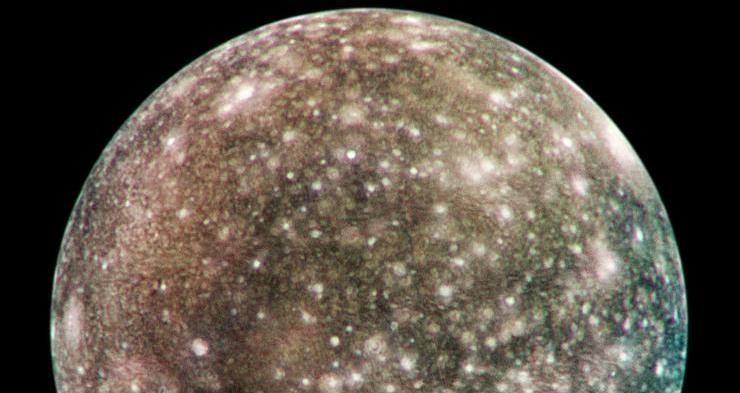 Callisto, as seen by the Galileo probe.