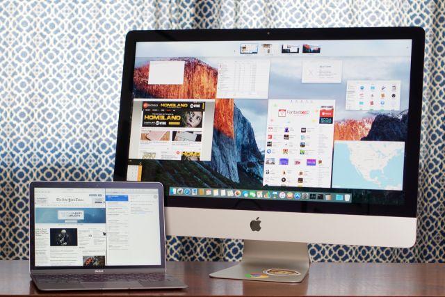 Small and large Macs running El Capitan.
